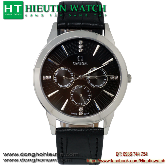 Đồng hồ OMEGA M.802 - Mặt đen vỏ trắng