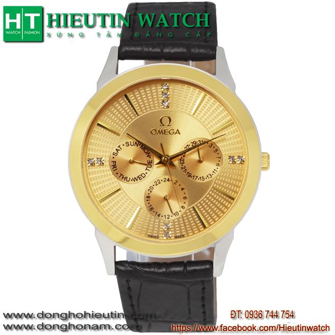 Đồng hồ OMEGA M.802 - Mặt trắng vàng dây da