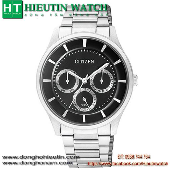 ĐỒNG HỒ CITIZEN AG8350-54A, mặt đồng hồ tròn to bản
