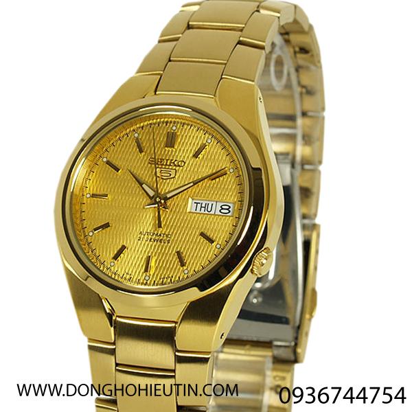 Đồng hồ seiko snk610k1 - đong ho vỏ dây vàng mặt vàng