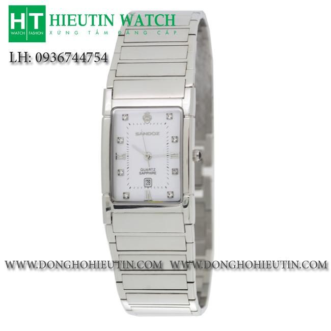 Đồng hồ  SANDOZ - 89175 - Mặt đồng hồ hình chữ nhật cong được trang bị kính sapphire chống trầy