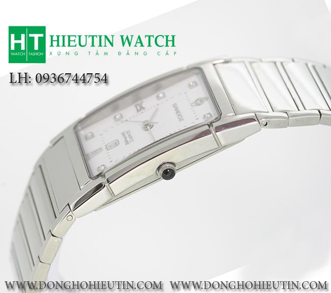 Đồng hồ  SANDOZ - 89175 - Mặt đồng hồ hình chữ nhật cong